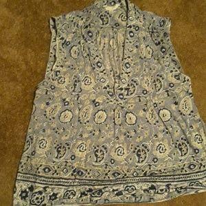 Lucky Brand sleeveless v-neck blouse